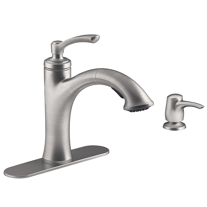 Elliston Kitchen Faucet - 1 Lever - Stainless Steel