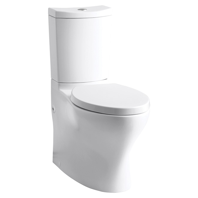 Persuade Elongated-Front 2-Piece Toilet - Dual Flush - White