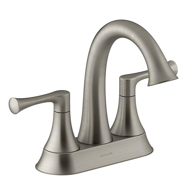 Lilyfield Bathroom Faucet - 2 Handles - Brushed Nickel | RONA