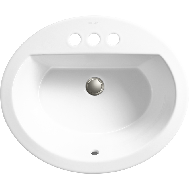 Kohler Bryant Drop-in Oval Sink - Vitreous China