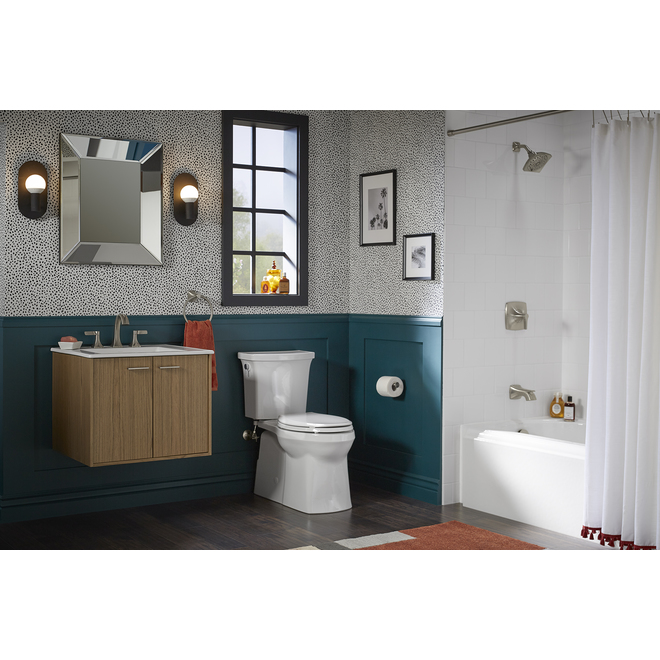 Kholer - 2 Piece Elongated Toilet - Transpose - Vitreous - 29.6-in x 16.3-in - 4.8 L - White