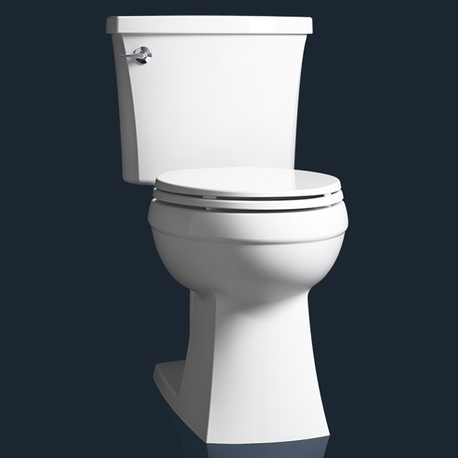 Kohler Elongated 2-Piece Toilet - Elliston - 4.8 L - White