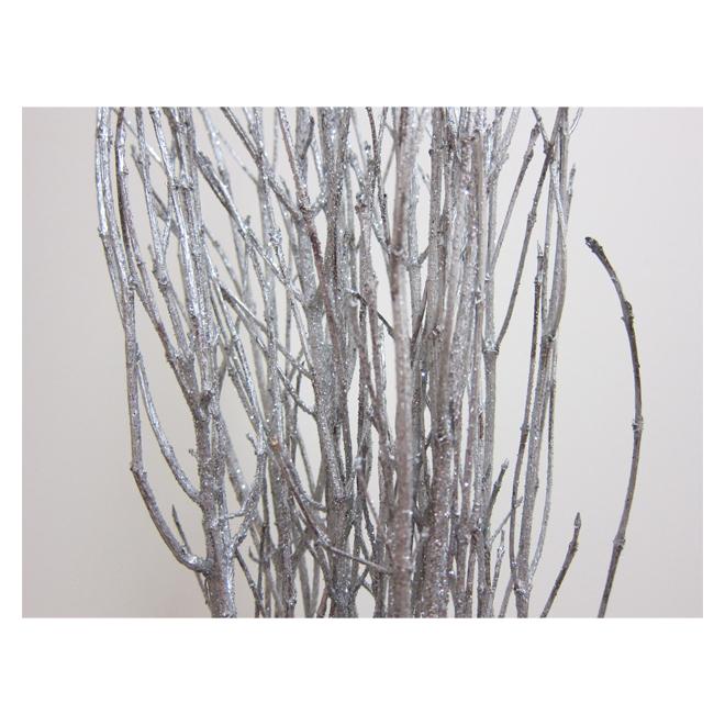 Branches naturelles Green Plus Nurseries, argent, 3 pi, paquet de 5