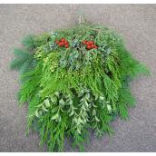 Mini Christmas Greenery Arrangement - 12-in - 14-in - Green