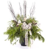 Christmas Arrangement with Decorations - 12-in