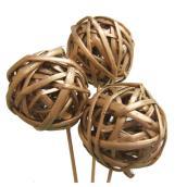 Decorative Lata Balls - 3-in - Assorted Colours