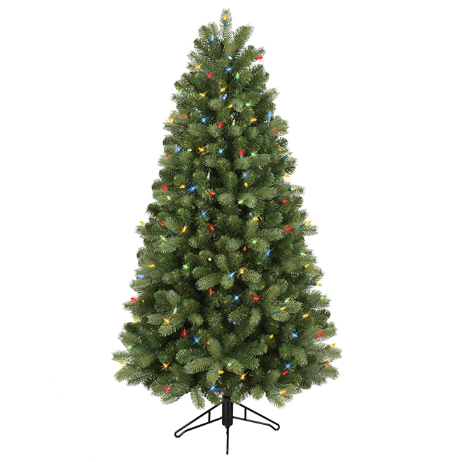 free shipping 61005 1e96a GE Pre-Lit Christmas Tree - 200 LED Lights - 5' 17136LC | RONA