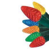 Jeu de 150lumières extérieuresDELC5, fil vert, multicolore