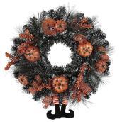 Holiday Living Halloween Wreath - 24-in - Black