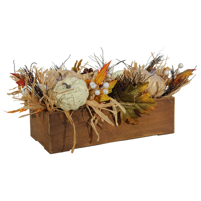 Holiday Living Planter with Pumpkins