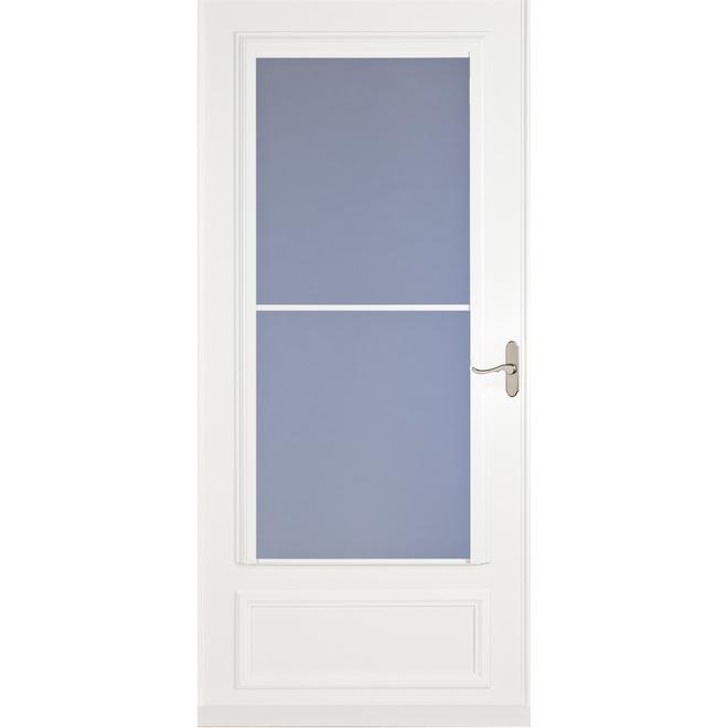 Savannah 32-in x 81-in Storm Door - White