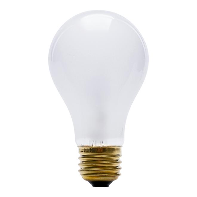 Ampoule incandescente A19 60 W, variable, blanc doux, 4/pqt
