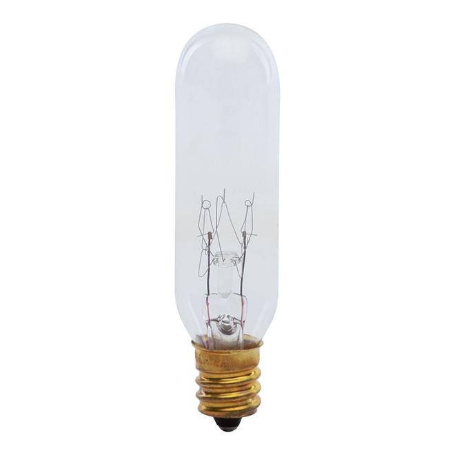 Ampoule incandescent T6 15 W, variable, blanc brillant