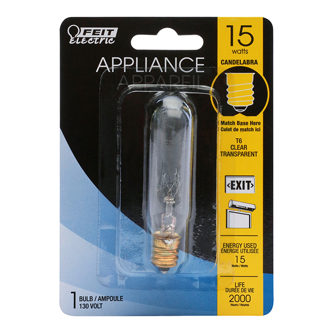Incandescent Bulb T6 15 W - Dimmable - Bright White