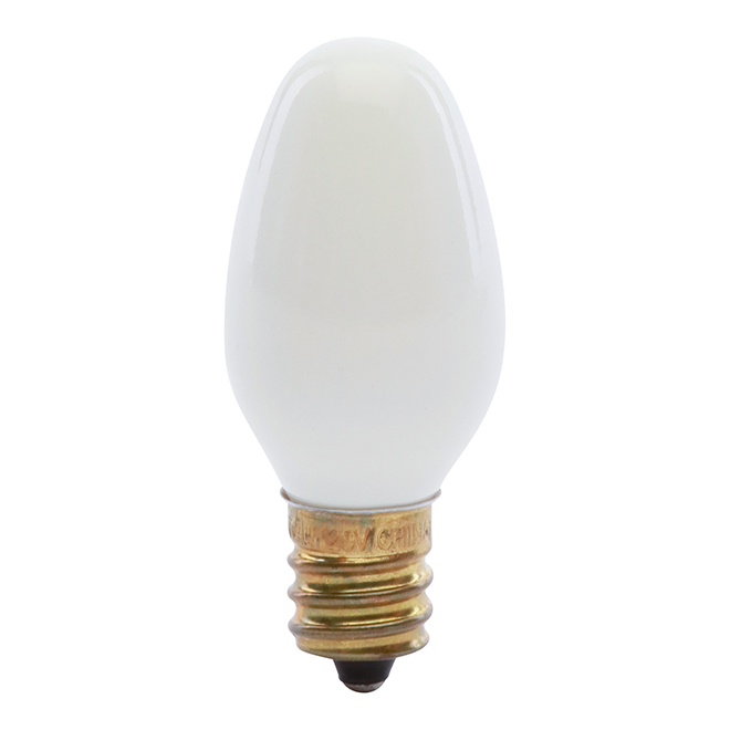 Ampoule veilleuse C7 4 W, intensité variable, blanc doux, 4/pqt