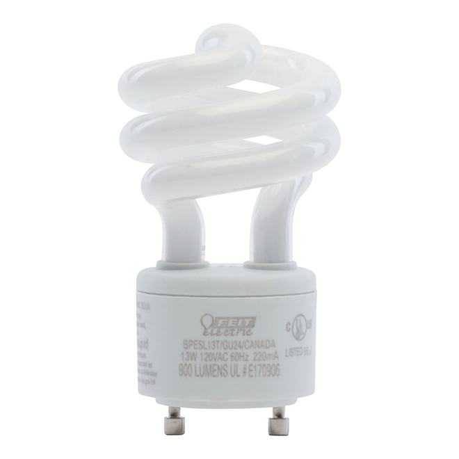 Fluo-Compact Bulb GU24 - 13 W - Non Dimmable - Soft White