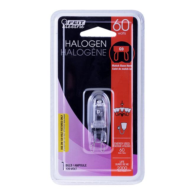 Ampoule halogène T4 60 W, intensité variable, blanc brillant