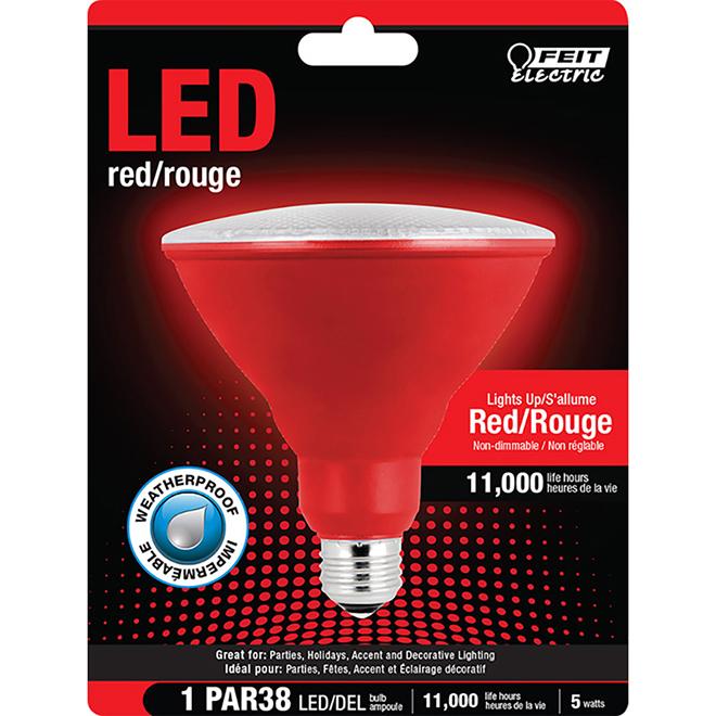Réflecteur PAR38 E26, 7 W, rouge