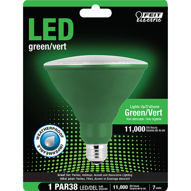 Reflector PAR38 E26 - 7W - Green