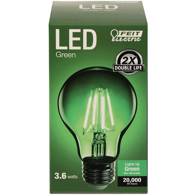 Ampoule DEL E26 3,6 W, vert
