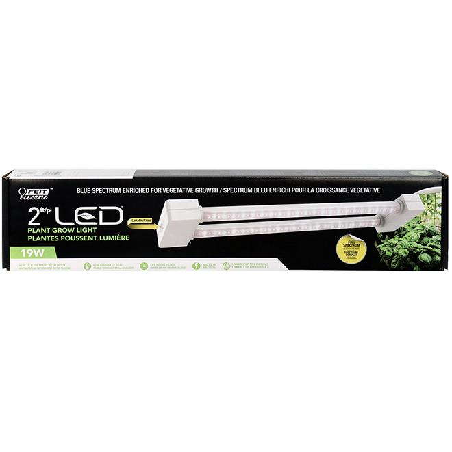 Full Spectrum Grow Light - Double LED - 2' - 19 W - White