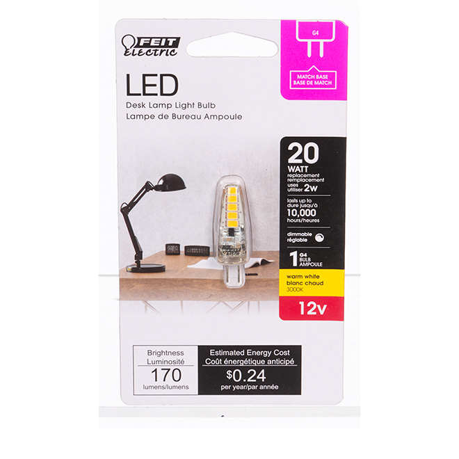 Feit Electric LED Bulb - 2.0 W - G4 Capsule - Warm White