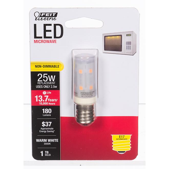 Ampoule DEL Feit Electric, T8 micro-ondes, 2,5 W, blanc chaud