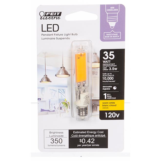 Ampoule DEL Feit Electric, T4 capsule, 3,5 W, blanc chaud