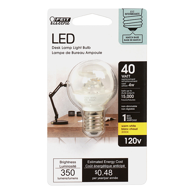 Feit Electric LED Bulb - S11 - 3.5 W - Warm White
