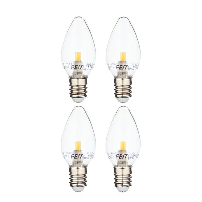 Ampoule DEL Feit Electric, C7, 0,6 W, lumière du jour, 4/pqt