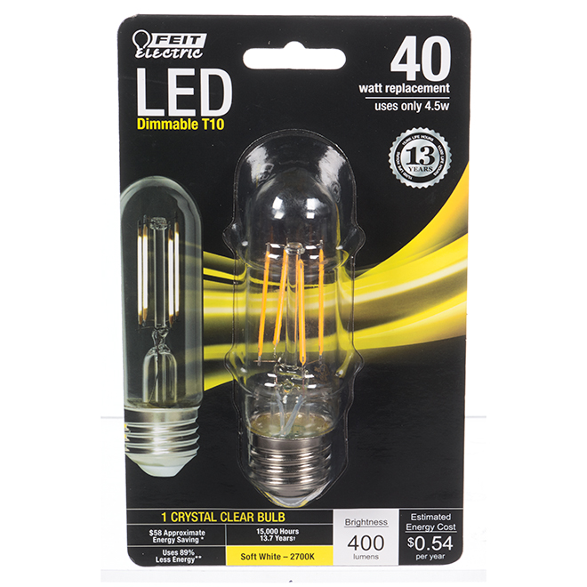 Feit Electric LED Bulb - E26 T10 - 4.5 W - Soft White