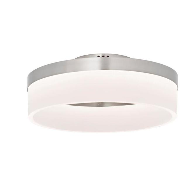 Style Selections Lynnpark Flush Mount Ceiling Light - 12-in - Integrated LED - Acrylic - Brushed Nickel