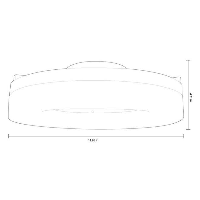 Plafonnier Lynnpark Style Selections, 12 po, DEL intégré, acrylique, nickel brossé