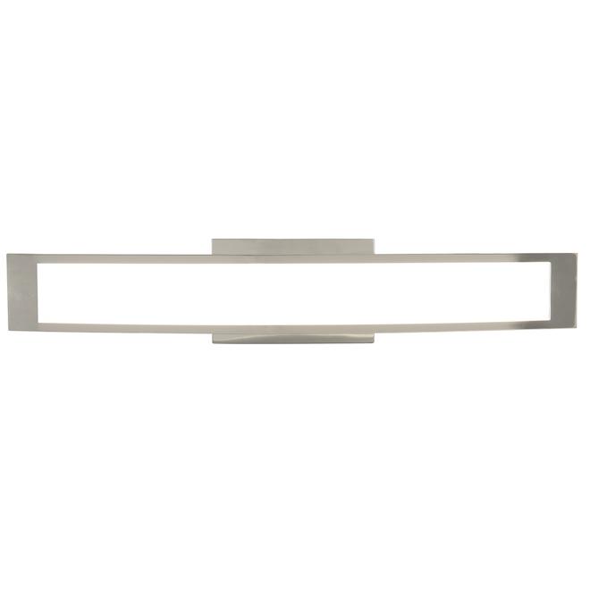 Luminaire de meuble-lavabo allen + roth courbé, 24 po, métal/acrylique, chrome