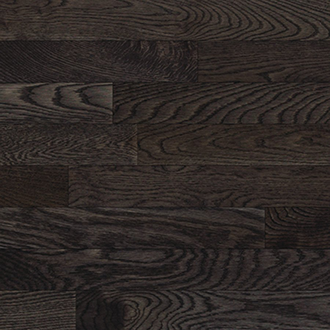 Solid Hardwood Flooring Oak Prefinished Ebony Slate Rona