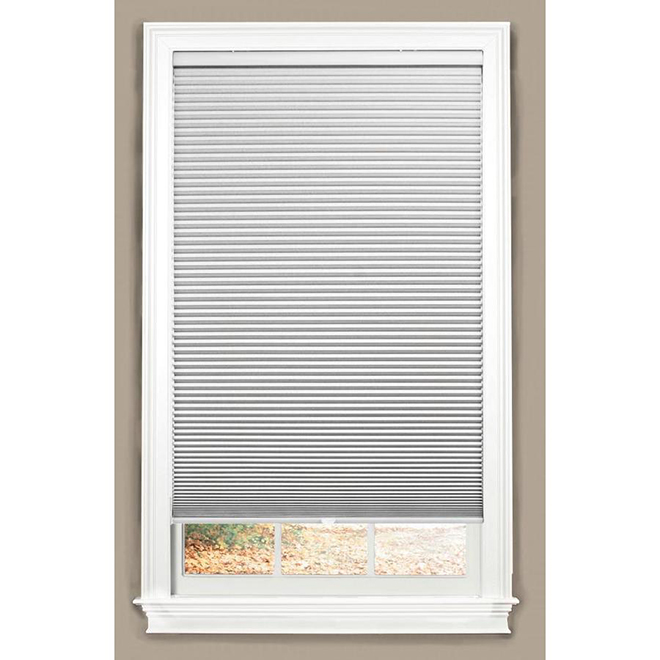 Allen + Roth Cordless Cellular Shade - 60-in x 48-in - White
