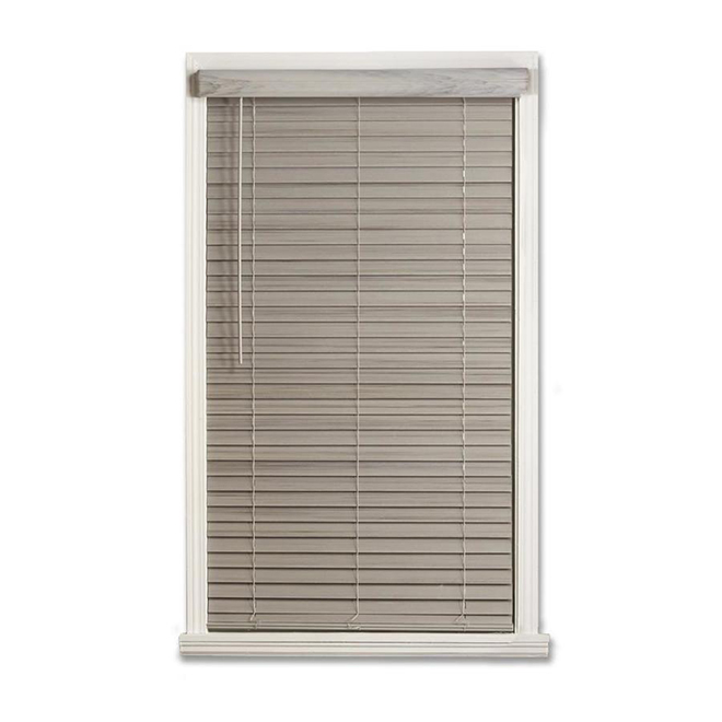 "Cordless Horizontal Blind - Faux Bois - 2"" x 36"" x 48"" - Grey"