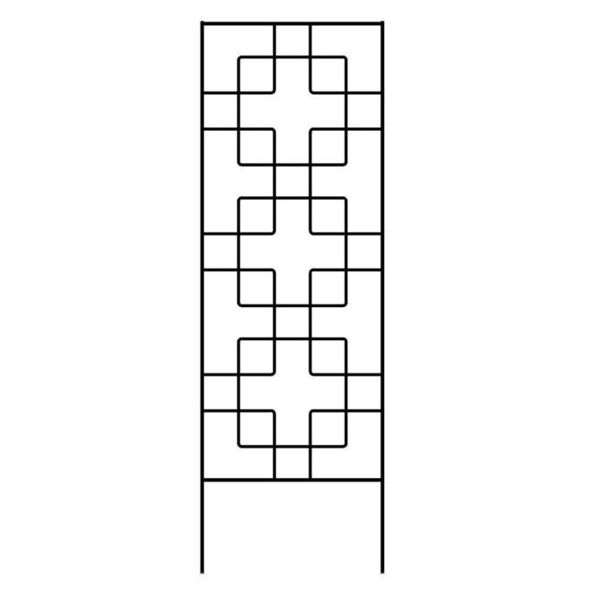 "Treillis Zen Garden Accents, noir, 72"""