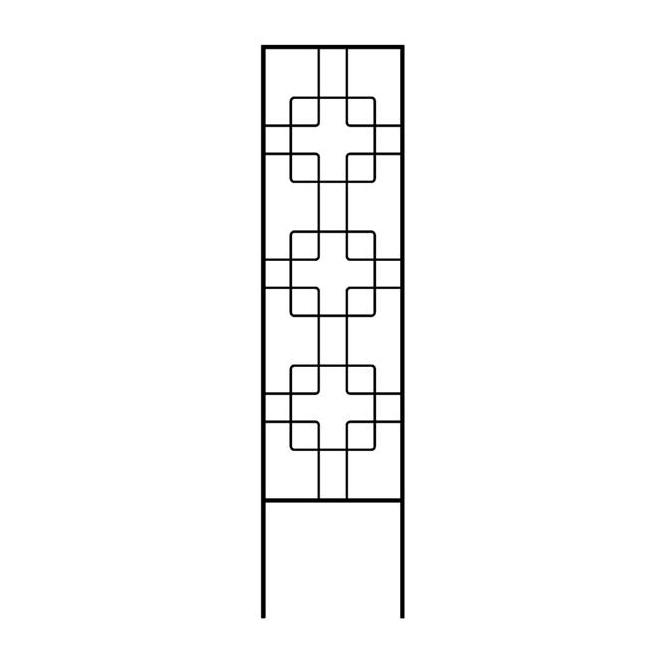 Garden Accents Zen Fan Trellis - 48'' - Steel - Black