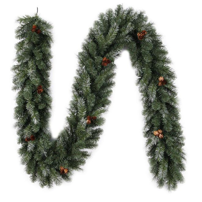 Christmas Pine Garland.Pine Garland 9 X 10 Pvc 220 Tips Green