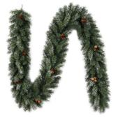"Pine Garland - 9' X 10"" - PVC - 220 Tips - Green"