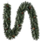 """Guirlande de pin, 9' X 10"""", PVC, 220 embouts, vert"""