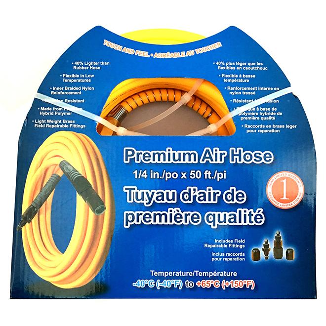 Tuyau d'air Crisp-Air flexible, 1/4 po x 50 pi