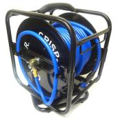"Air Hose and Reel - Polyurethane/Steel - 1/4"" x 100'"
