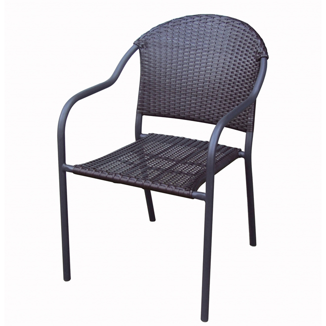 Style Selections Pelham Bay Woven Wicker Barrel Patio Chair - Brown