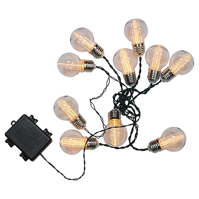 String Lights Battery-Operated - 10 LED Lights - Warm White