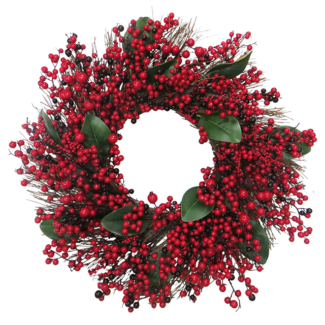 Red Berry Wreath - 30""