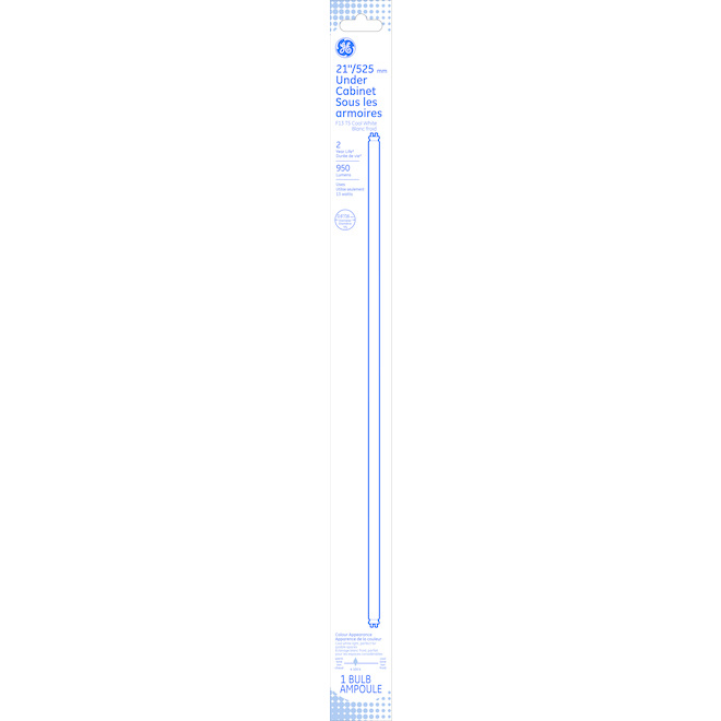 "Tube fluorescent linéaire, F13 T5, 13 W, 21"", blanc froid"