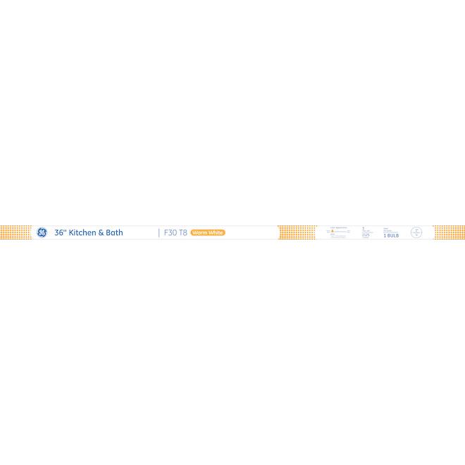 """Fluorescent Tube - F30 T8 - 30 W - 36"""" - Glass - Warm White"""