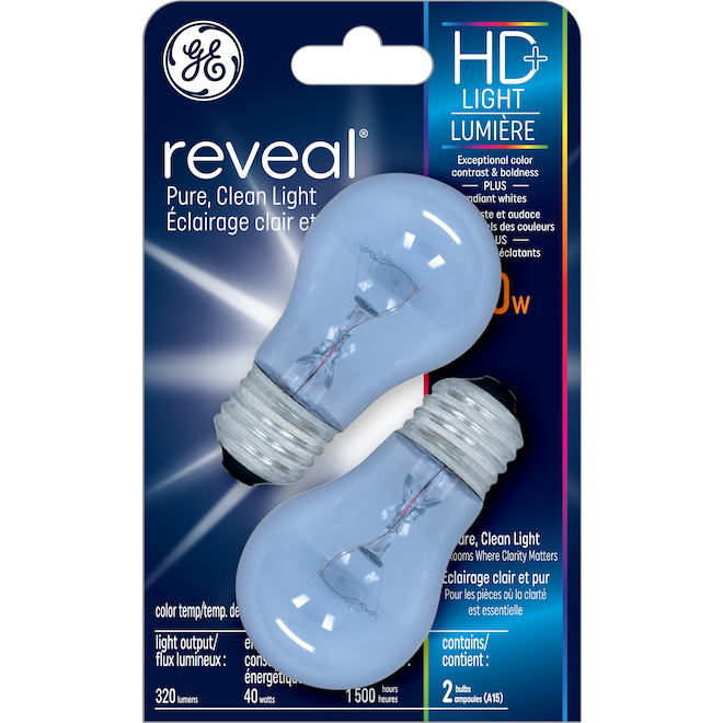 Incandescent Bulb - A15 - E26 - 40W - 2/pack